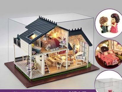 智趣屋diy小屋普羅旺斯手工拼裝房子模型屋大型別墅男女