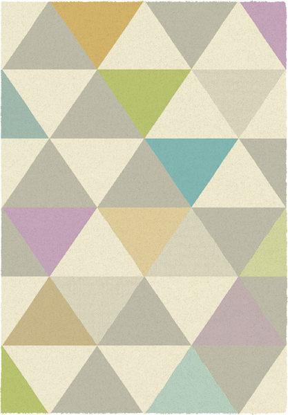 范登伯格 凱爾 現代幾合玩色地毯 三角型 160x230cm