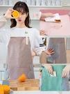 圍裙 可擦手圍裙女時尚可愛防水工作服圍腰日式廚房餐廳做飯防油罩衣男 寶貝計畫 618狂歡