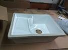 【麗室衛浴】陶磁下崁式洗衣槽P-301-8 固定式洗衣板 540X420MM