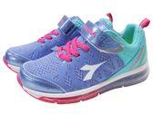 『雙惠鞋櫃』◆DIADORA迪亞多那 ◆ 大童款 極地冰河 全氣墊運動鞋 ◆ (DA3867) 紫藍