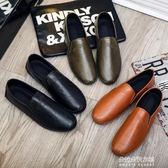 男士豆豆鞋男懶人韓版潮流新款一腳蹬懶人鞋透氣潮鞋  朵拉朵衣櫥