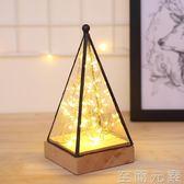 ins超火樹銀花燈創意夢幻北歐裝飾台燈臥室床頭led小夜燈高檔個性 至簡元素