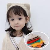 女童貝雷帽春秋季韓版兒童嬰幼兒寶寶卡通貓耳朵尾巴針織毛線帽子 童趣屋