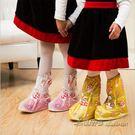 兒童戶外防滑加厚底卡通耐磨中筒防雨靴套 ...