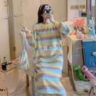 睡裙女冬季韓版甜美公主風長裙法蘭絨睡衣保暖珊瑚絨睡衣家居服 新年禮物