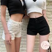 高腰緊身牛仔短褲女顯瘦夏季褲子彈力牛仔褲【大碼百分百】
