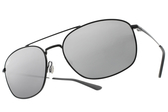 RayBan偏光太陽眼鏡 RB3654 00282 (黑-淺白水銀灰鏡片) 時尚潮流雙槓款 # 金橘眼鏡
