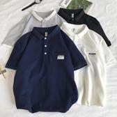 Polo衫短袖t恤男加肥加大碼寬鬆薄款體恤翻領潮胖日系夏季裝青年     易家樂