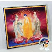 西方三聖油畫框【十方佛教文物】