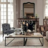茶几簡約現代茶幾實木美式鄉村復古鐵藝北歐個性時尚簡單客廳茶桌zg 聖誕交換禮物
