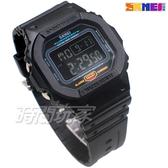 SKMEI 時刻美 大錶面 酷炫閃耀 時尚電子錶 運動流行腕錶 夜光 日期 計時碼表 SK1554黑