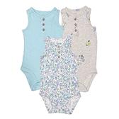 女寶寶無袖包屁衣三件組 背心式連身衣 綠花花   Carter s卡特童裝 (嬰幼兒/兒童/小孩)