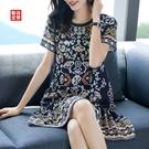 杭州高檔真絲洋裝/連衣裙女2021新款夏裝大碼氣質顯瘦透氣桑蠶絲裙子 快速出貨