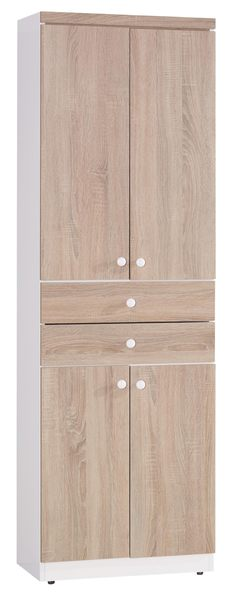 【森可家居】小北歐2尺鞋櫃(二抽) 7JX273-1 木紋質感 高玄關收納櫃 北歐鄉村風