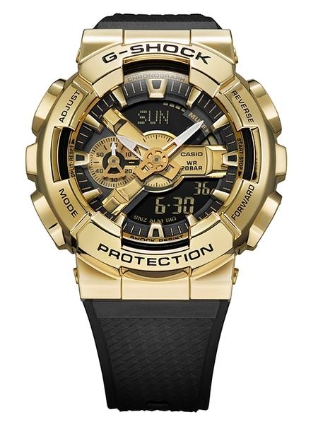 CASIO 卡西歐 G-SHOCK 黑金 GM-110G-1A9 不鏽鋼 街頭手錶
