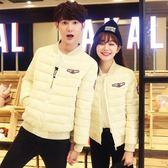 鋪棉外套 情侶女棒球服短款韓版寬松可愛加厚棉衣