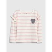 Gap女幼童迪士尼荷葉邊飾圓領T恤519119-粉色條紋