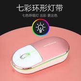 鋁合金呼吸燈滑鼠無線靜音充電