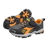 《Diadora》兒童 越野鞋 黑桔色 DA13006