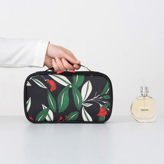 花草系列手提化妝包 夾層 旅行 收納 整理 分類 衣物 分裝 海關 出國 旅行【Z071】MY COLOR