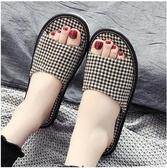 棉拖鞋 日式壓麻拖鞋居家夏季防滑軟底地板軟底無聲家用靜音棉麻拖鞋四季
