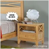 【水晶晶家具/傢俱首選】JF0591-3威爾45×40×48公分北歐本色單抽床頭櫃