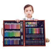 150件意大利兒童木盒繪畫套裝畫畫筆水彩筆小學生工具禮盒全能版WD 至簡元素