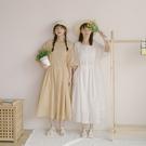 Queen Shop【01085503】蕾絲拼接打條設計附腰帶排釦洋裝 兩色售*現+預*
