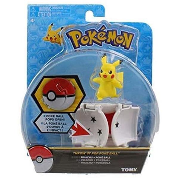 [9美國直購] Pokemon 精靈寶可夢 Throw N Pop Poke Ball with Pikachu Action Figure Toy Set