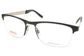 BOSS ORANGE 光學眼鏡 BR0227 92K (黑-銀) 都會百搭流行款 # 金橘眼鏡