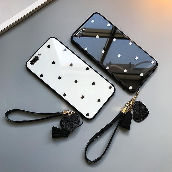 愛心鋼化玻璃皮套OPPO R11S PLUS手機套 毆珀R17Pro簡約保護套 防摔R17保護殼 OPPO R15Pro素面手機殼