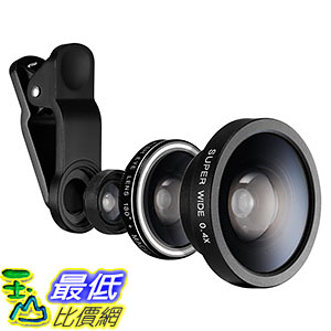 [美國直購] Spigen 3合1手機鏡頭 Cell Phone Camera Lens Super Wide Lens/Fisheye Lens/Macro Lens for iPhone 7 Plus/Galaxy S7