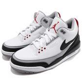 Nike Air Jordan 3 Retro Tinker NRG 白 黑 灰 爆裂紋 AJ3 喬丹 三代 男鞋【PUMP306】 AQ3835-160