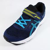 [陽光樂活](AX)亞瑟士 ASICS CONTEND 5 PS 運動鞋 魔鬼氈 童鞋 1014A048-404 藍色