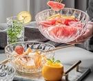 碗 透明玻璃碗盤家用水果沙拉碗單個ins網紅學生泡面創意耐熱碗餐具【快速出貨八折搶購】