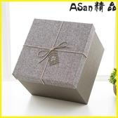 【伊人閣】禮盒正方形禮品盒精美禮物盒復古簡約創意包裝盒