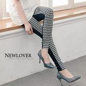 內搭窄管褲NEW LOVER牛仔時尚【268-9603】流行超彈力撞色窄管長褲S-L