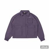 NIKE 女棉質運動外套 AS W NSW SWSH JKT WVN 工裝 深紫-CZ8900573