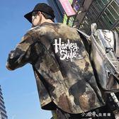 迷彩短袖t恤男夏季日系復古潮牌歐美風嘻哈寬鬆個性半袖 小確幸生活館