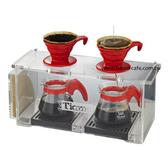 金時代書香咖啡  TIAMO 質感清透 1235壓克力手沖架(雙孔) HK0094