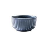 赫本陶瓷4.5吋飯碗 灰藍