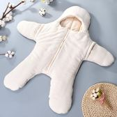 嬰兒睡袋 新生兒抱被睡袋兩用純棉初生嬰兒包被秋冬加厚寶寶襁褓春秋抱被 可卡衣櫃