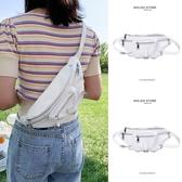 時尚百搭胸包腰包單肩斜挎小包包斜背包女夏天夏季潮白色少女包2020新款