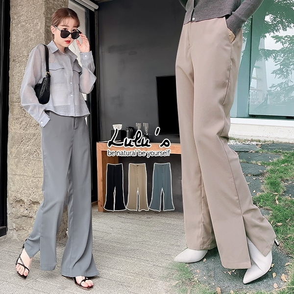 LULUS【A04200190】F自訂款側開叉西裝褲S-L3色