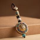 手機掛飾-尼泊爾手工平安牌復古鑰匙扣20款73xd1【時尚巴黎】