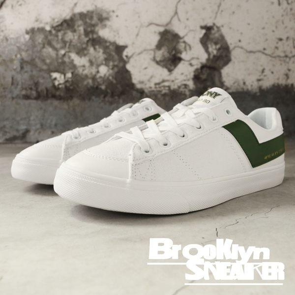 PONY PRO 80 白 帆布鞋 墨綠LOGO 復古 休閒 男 (布魯克林) 83M1PR01BN