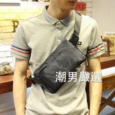 原創設計時尚迷彩牛津布胸包潮流男士尼龍休閒單肩男包手機包煙包