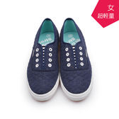 【A.MOUR 經典手工鞋】輕履系列- 藍棉 / 休閒鞋 / 平底鞋 / 嚴選棉布 / 柔軟透氣 /DH-6756