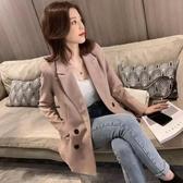 2019新款秋裝大碼女裝網紅修身減齡休閒小西裝女chic百搭寬鬆外套